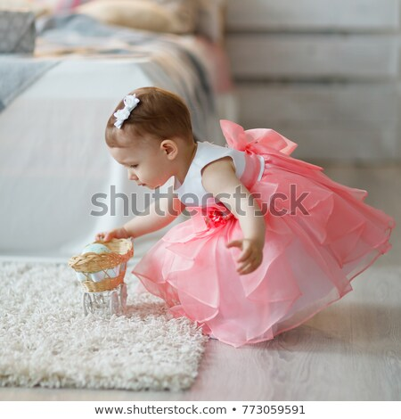 small girl with the doll in the carriage 2 stock photo © Paha_L