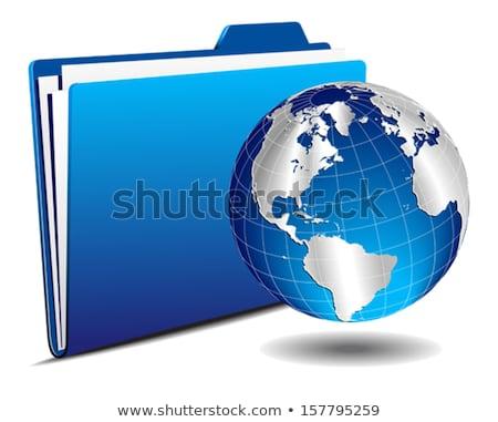 Earth globe with locker Stock photo © cherezoff