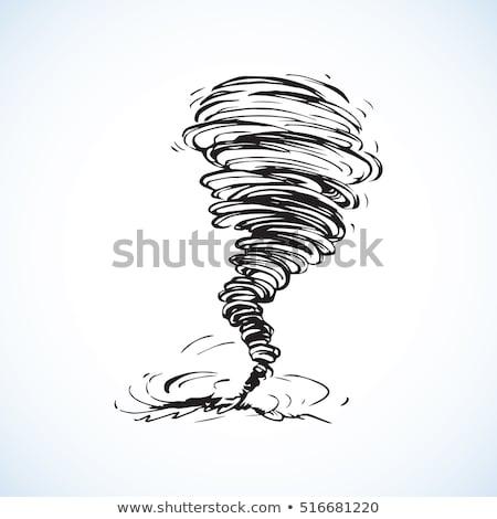 vector hand drawn illustrations cyclone tornado stock photo © m_pavlov