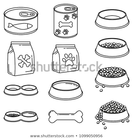 assorted cans and food bowls stock photo © ozgur