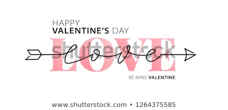 valentines day logo stock photo © netkov1