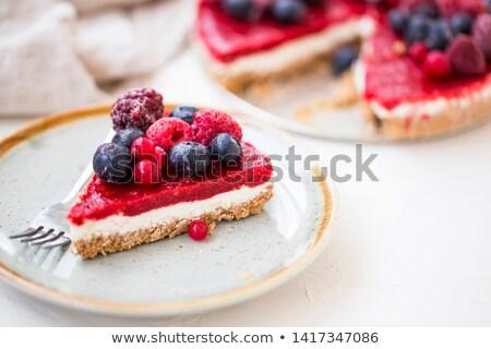 Berry fruit cake with mascarpone Stock photo © Digifoodstock