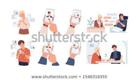 composite image of online dating app stock photo © wavebreak_media