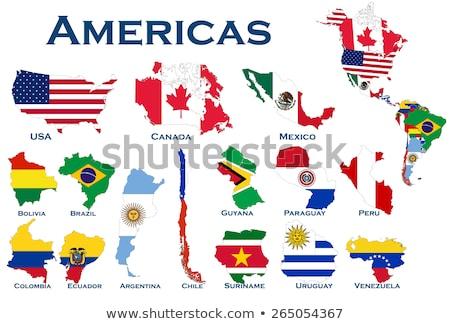 Venezuela · ülke · harita · şehir · mavi · resim - stok fotoğraf © alex_grichenko