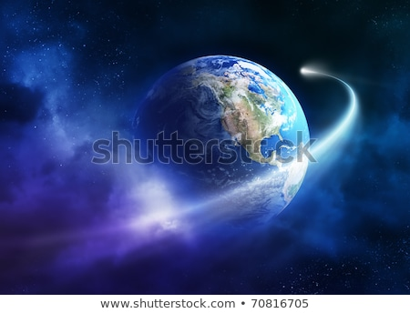 3D Earth and fantasy planet with bright star Stock photo © kjpargeter