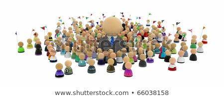 Big boss (symbolic figures of people) Stock photo © grechka333