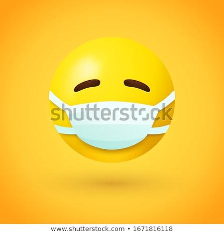 Nővér arc érzelem ikon illusztráció felirat Stock fotó © kiddaikiddee