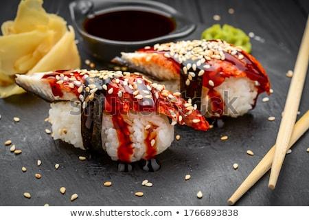 smoked eel sushi stock photo © zhekos