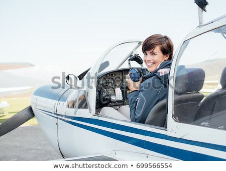 A pilot flying a propeller Stock photo © bluering