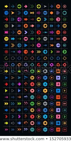 Projeto ícone triângulo ui cores educação Foto stock © angelp