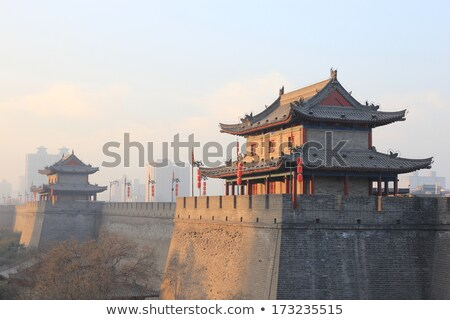 City wall and gate of Xian China Stock photo © bbbar