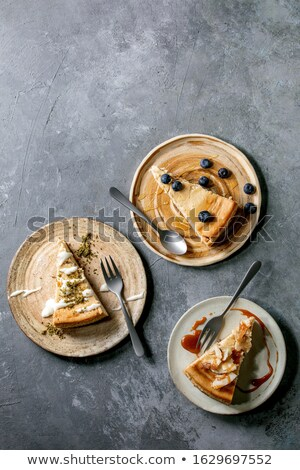 Cheesecake différent alimentaire fond art fromages Photo stock © bluering
