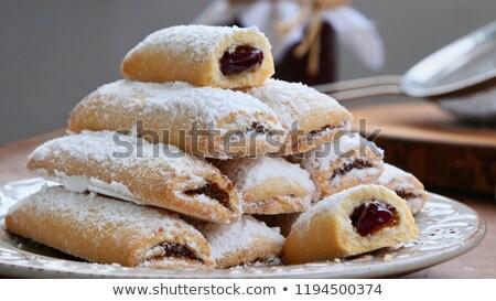 ontbijt · pruim · jam · hout · vruchten · keuken - stockfoto © digifoodstock