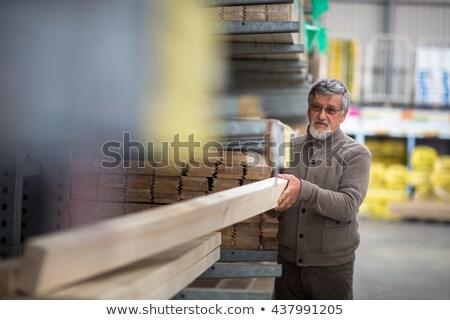 férfi · választ · vásárol · építkezés · fa · csináld · magad - stock fotó © lightpoet
