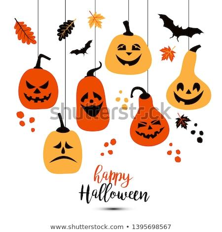 halloween elements and icons stock photo © genestro
