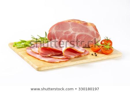 Thin-sliced smoked pork neck Stock photo © Digifoodstock