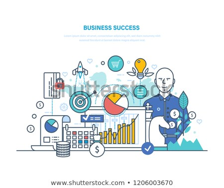 Gazdasági hódítás üzletember ugrik lépcső férfi Stock fotó © alphaspirit