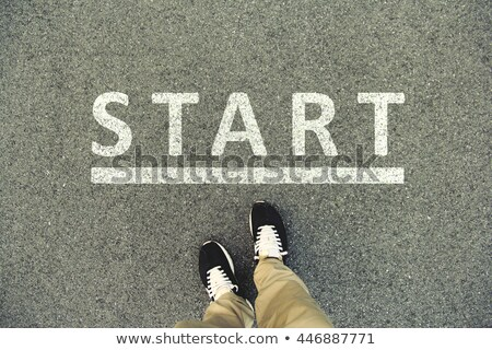 Shoes and start word Stock photo © fuzzbones0
