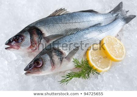 sea bass with parsley Stock photo © Antonio-S