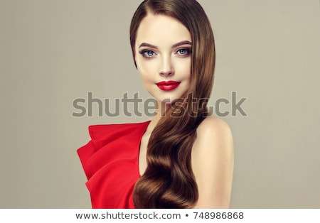 Photo stock: Belle · mode · brunette · femme · élégante · robe