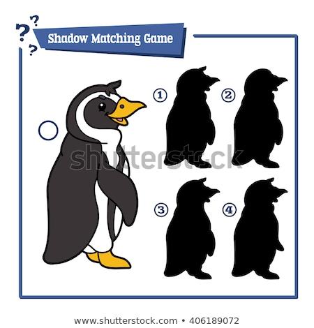 パズル 一致 影 ペンギン かわいい ストックフォト © adrian_n