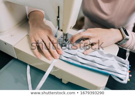 женщину швейные машины иллюстрация женщины работу ретро Сток-фото © adrenalina