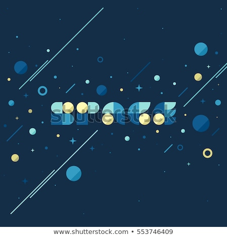 vector concept of fantasy galaxy in huge universe space lettering stock photo © ussr