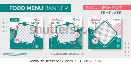 promotional sale brochure template for marketing with colorful s Stock photo © SArts