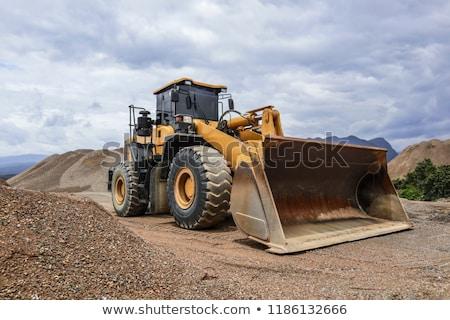 bulldozer · wegenbouw · weg · bouw · macht · motor - stockfoto © tainasohlman
