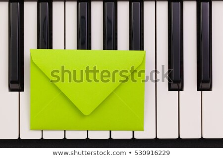 キー · 封筒 · ドアの鍵 · 青 · 白 · 孤立した - ストックフォト © capturelight