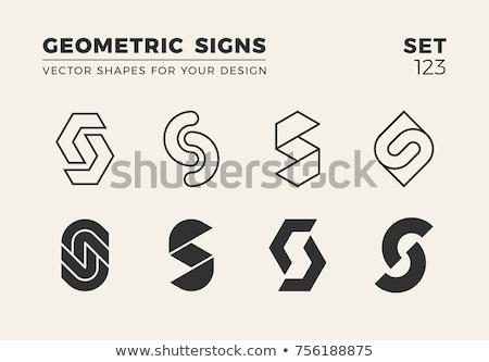 Geometrik logo ayarlamak logo tasarımı teknoloji kurumsal Stok fotoğraf © sdCrea