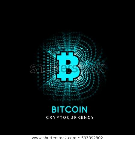 Bitcoin electrónico forma dinero innovador pago Foto stock © m_pavlov