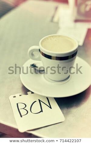 Mot Barcelone note main jeunes Photo stock © nito
