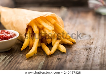 Porción cuadrados placa chips primer plano Foto stock © Digifoodstock