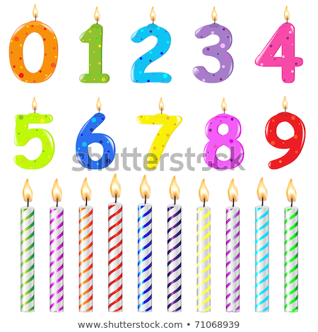 színes · születésnapi · gyertyák · vektor · szett · buli · boldog - stock fotó © adamson