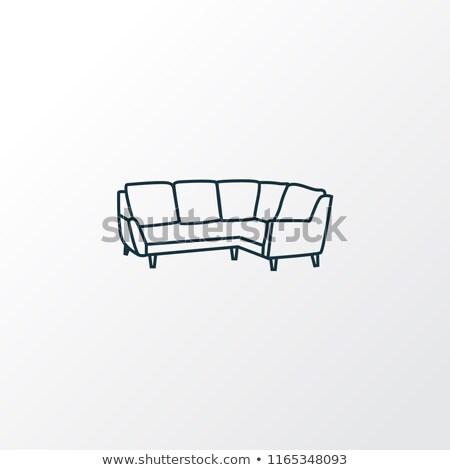 projektu · poduszkę · ikona · meble · kolor · biały - zdjęcia stock © angelp