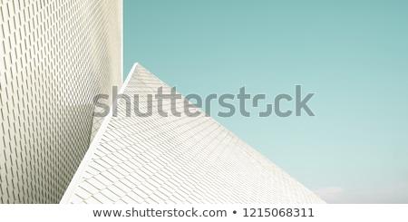 építészet részletek magas zöld tető citromsárga Stock fotó © simply