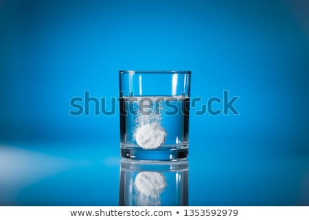 Effervescent tablet dissolbving stock photo © pakete