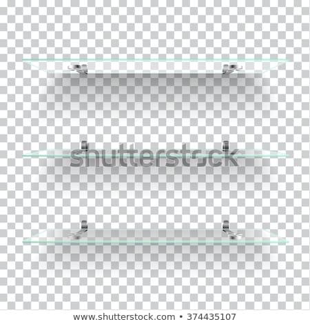 boş · raf · durmak · duvar · spot · ışık - stok fotoğraf © cherezoff