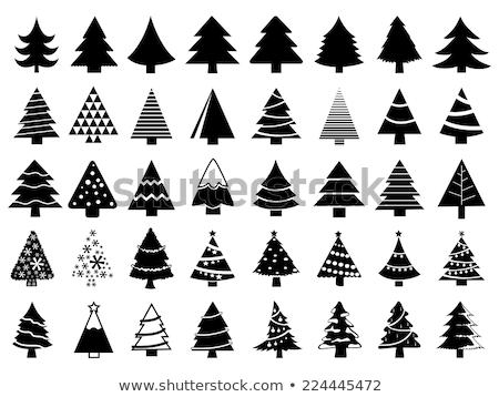 Eenvoudige kerstboom vector witte papier Stockfoto © fresh_5265954
