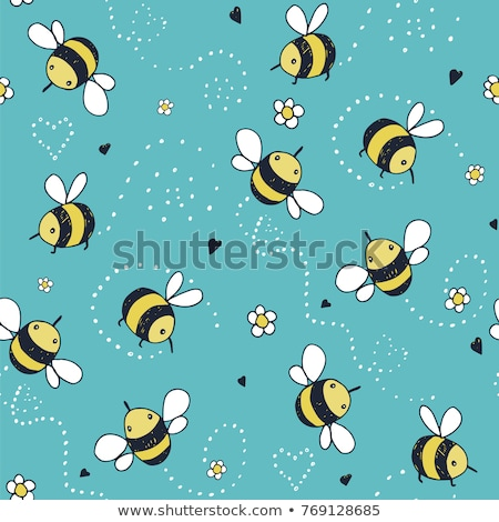 いたずら書き ミツバチ ベクトル フォーマット 紙 ストックフォト © balasoiu