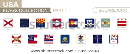 flag of iowa us state square icon stock photo © mikhailmishchenko