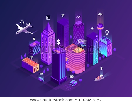 Vector 3d isometric illustration of city buildings. Stock photo © curiosity