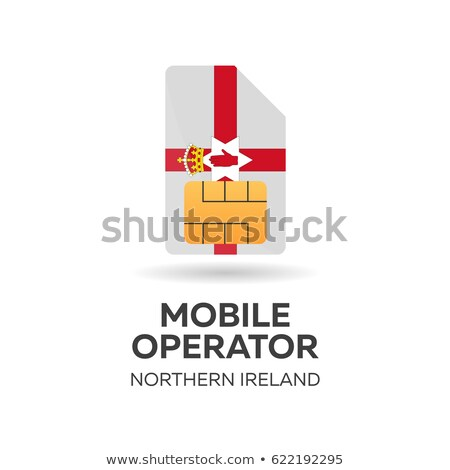 Northern Ireland mobile operator. SIM card with flag. Vector illustration. Stock photo © Leo_Edition