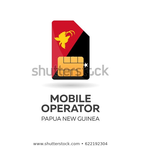Guinea mobile operator. SIM card with flag. Vector illustration. Stock photo © Leo_Edition