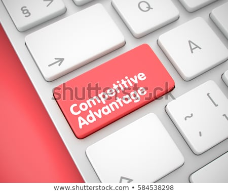 Red Competitive Advantage Keypad on Keyboard. 3D Illustration. Stock photo © tashatuvango