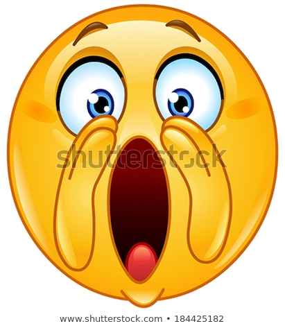 emoji   scream orange smile isolated vector stock photo © rastudio