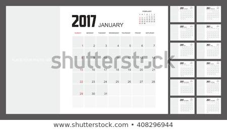 カレンダー 月 行 芸術 黒白 ストックフォト © frescomovie