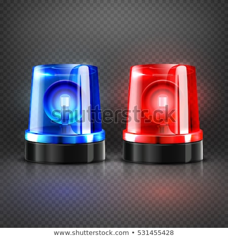 car red flasher light sign isolated vector illustration stock photo © maryvalery