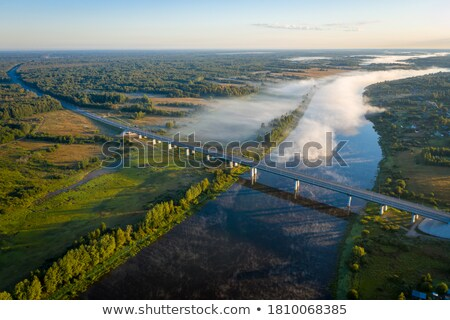 foggy dawn over a beautiful spring river stock photo © vlad_star